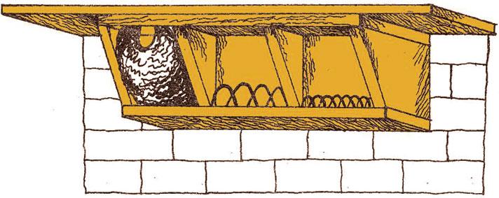 Как сделать для ласточки гнездо